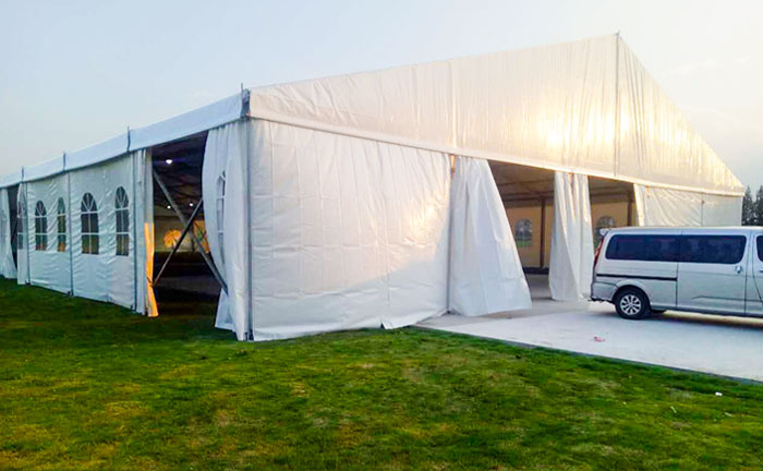 What fields are involved in temporary storage tent