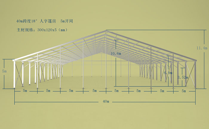 Large Outdoor Industrial Warehouse Storage Tent