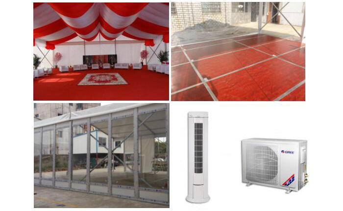 outside party tent Supporting Facilities