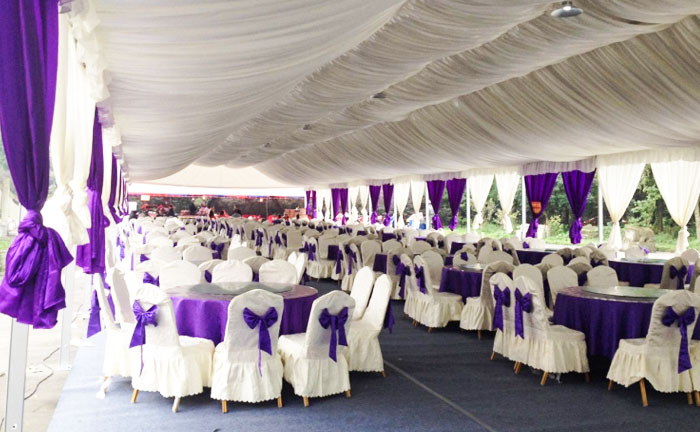 Wedding Party Event Tent Lining and curtain