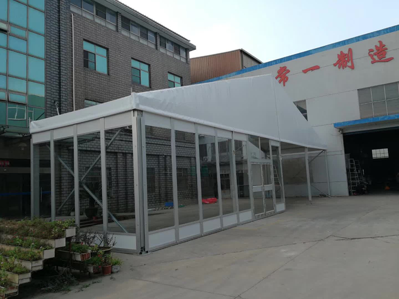 commercial event tent Glass Wall