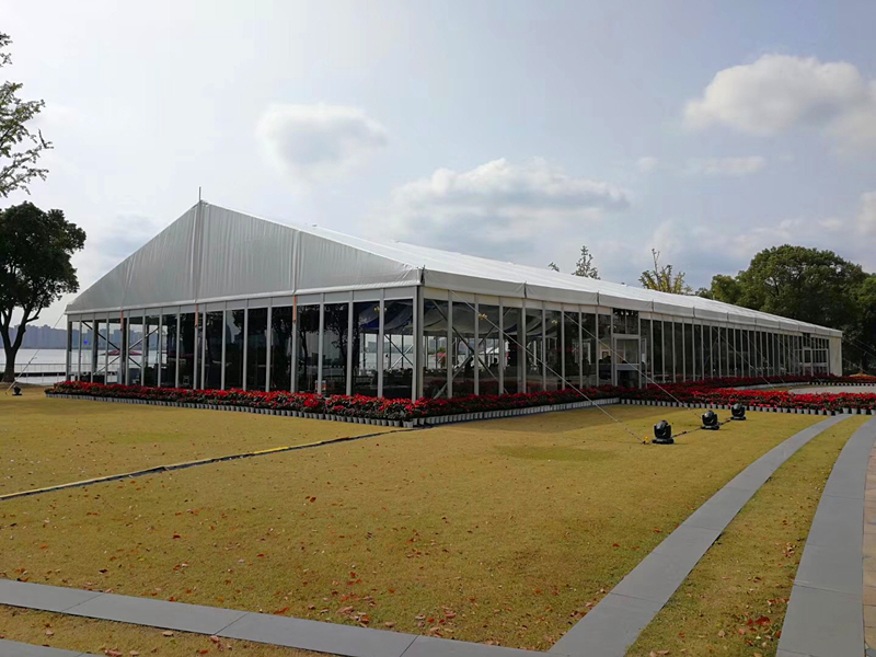 Aluminum Frame Glass Wall Exhibition Tent for sale